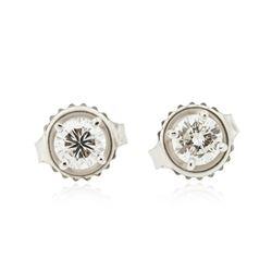 14KT White Gold 0.56 ctw Diamond Stud Earrings