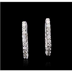 14KT White Gold 1.62 ctw Diamond Earrings