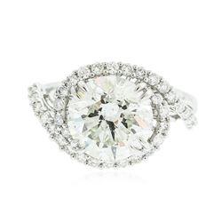 18KT White Gold 5.08 ctw Diamond Ring