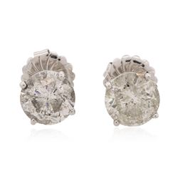14KT White Gold 6.36 ctw Diamond Solitaire Earrings