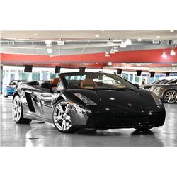 2006 Black Lamborghini Gallardo Convertible