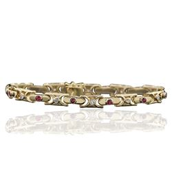 14KT Yellow Gold 0.85 ctw Diamond Bracelet