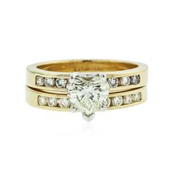 14KT Yellow Gold 1.42 ctw Diamond Wedding Set