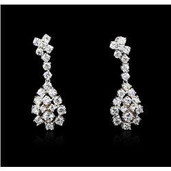 14KT White Gold 1.83 ctw Diamond Earrings