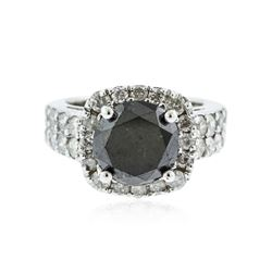14KT White Gold 5.59 ctw Black Diamond Ring