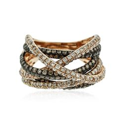 14KT Two-Tone Gold 1.70 ctw Diamond Ring