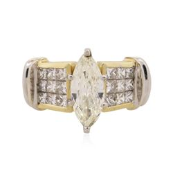 18KT Yellow Gold 2.24 ctw Marquise Cut Diamond Ring