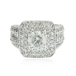 14KT White Gold 4.38 ctw Diamond Ring