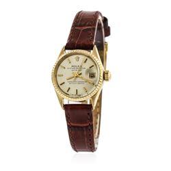 Ladies Rolex 18KT Yellow Gold DateJust Wristwatch