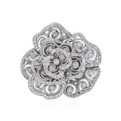 14KT White Gold 0.22 ctw Diamond Ring