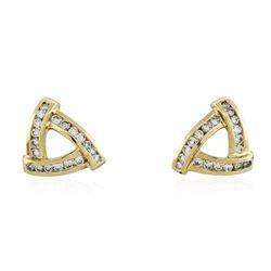 14KT Yellow Gold 1.47 ctw Diamond Earrings