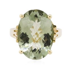 10KT Yellow Gold 10.00 ctw Prasiolite Ring