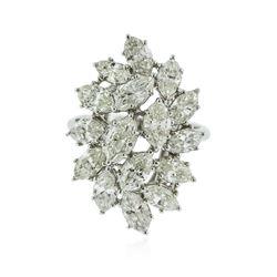 14KT White Gold 5.48 ctw Diamond Ring
