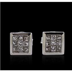 14KT White Gold 0.69 ctw Diamond Earrings