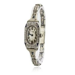 Ladies Vintage Elgin Diamond Wristwatch