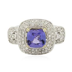 14KT Two-Tone 2.07 ctw Tanzanite and Diamond Ring