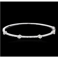 14KT White Gold 0.91 ctw Diamond Bangle Bracelet