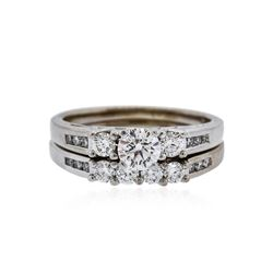 14KT White Gold 1.00 ctw Diamond Wedding Ring Set