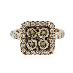 14KT Two-Tone Gold 1.93 ctw Diamond Ring