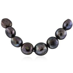 14KT White Gold Tahitian Pearl Necklace
