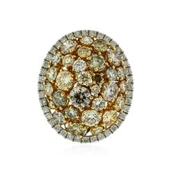 14KT Two-Tone Gold 3.34 ctw Diamond Ring