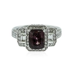 14KT White Gold 1.96 ctw Spinel and Diamond Ring