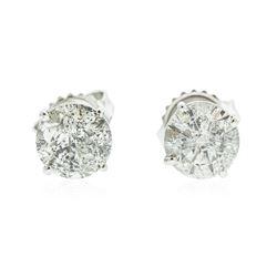 14KT White Gold 2.05 ctw Diamond Earrings