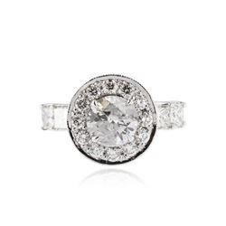 14KT White Gold 3.35 ctw Diamond Ring