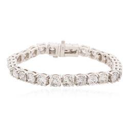 14KT White Gold 13.54 ctw Diamond Tennis Bracelet