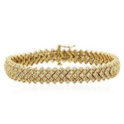 14KT Yellow Gold 3.73 ctw Diamond Bracelet