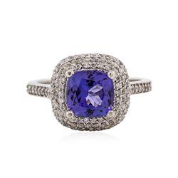 14KT White Gold 2.63 ctw Tanzanite and Diamond Ring