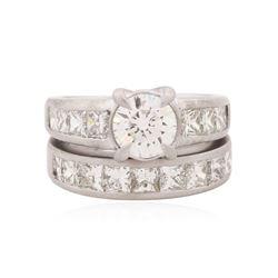 Platinum 3.93 ctw Diamond Wedding Set