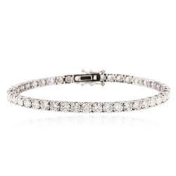 18KT White Gold 10.31 ctw Diamond Tennis Bracelet