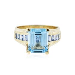 14KT Yellow Gold 4.54 ctw Topaz Ring
