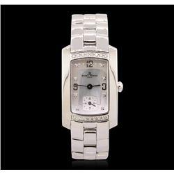 Stainless Steel Diamond Baume Mercier Mercler Hampton Wristwatch