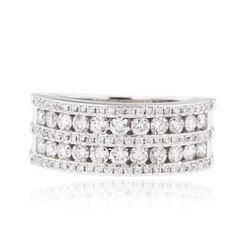18KT White Gold 0.91 ctw Diamond Ring