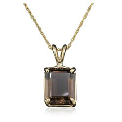 14KT Yellow Gold 4.00 ctw Topaz Pendant With Chain