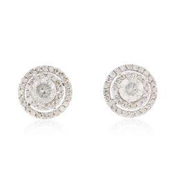 14KT White Gold 2.88 ctw Diamond Earrings