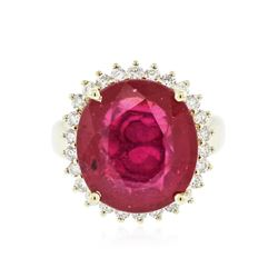 14KT Yellow Gold 8.06 ctw Ruby and Diamond Ring
