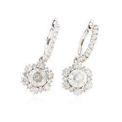 14KT White Gold 4.92 ctw Diamond Earrings