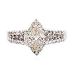 14KT White Gold 1.32 ctw Diamond Ring