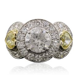 Platinum and 18KT Two-Tone Gold 5.15 ctw Diamond Ring