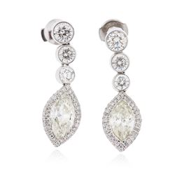 18KT White Gold 4.89 ctw Diamond Earrings