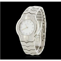 Ladies Tag Heuer Stainless Steel Diamond Wristwatch