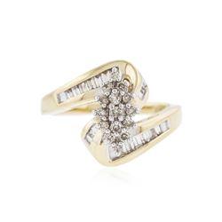 14KT Yellow Gold 0.85 ctw Diamond Ring