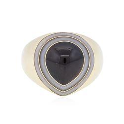 14KT Yellow Gold 8.41 ctw Garnet Ring