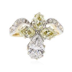 14KT Yellow Gold 1.99 ctw Diamond Ring