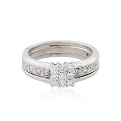 14KT White Gold 0.50 ctw Diamond Ring