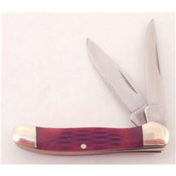 "ROUGH RIDER BROWN FOLDING KNIFE APPROX.  2  "" CLOSED"