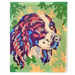 VINTAGE PAINT BY NUMBER SPRINGER SPANIEL PAINTING